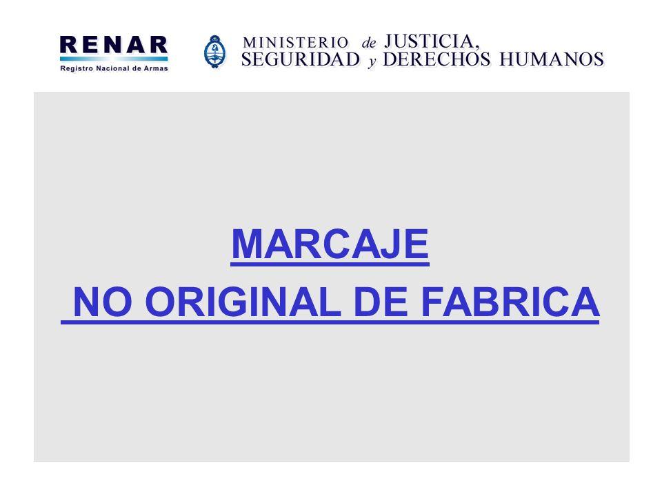 MARCAJE NO ORIGINAL DE FABRICA