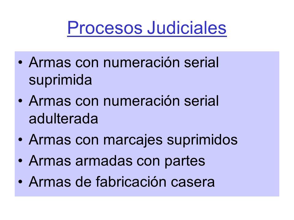 Procesos Judiciales Armas con numeración serial suprimida