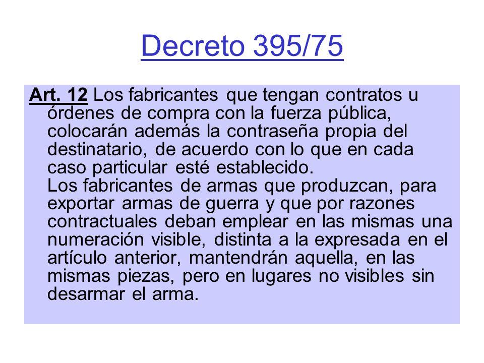 Decreto 395/75