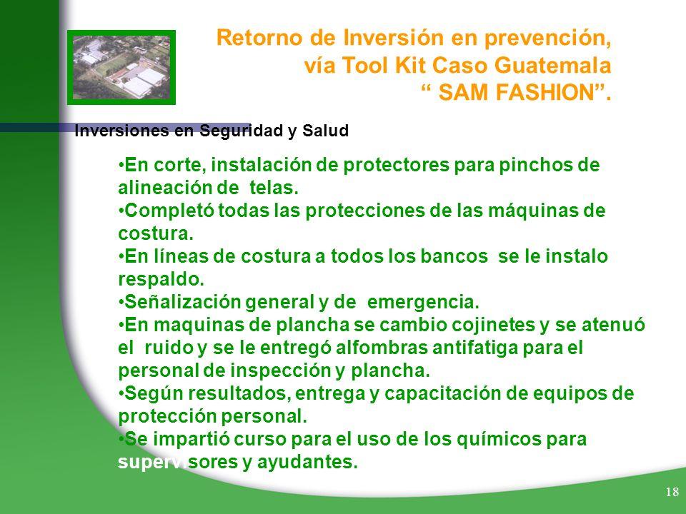 Retorno de Inversión en prevención, vía Tool Kit Caso Guatemala
