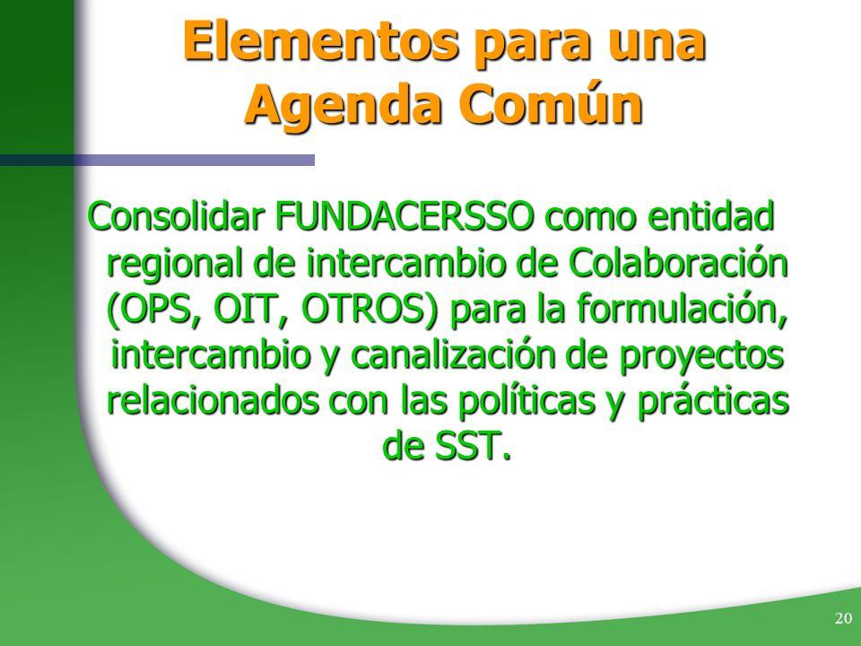 Elementos para una Agenda Común