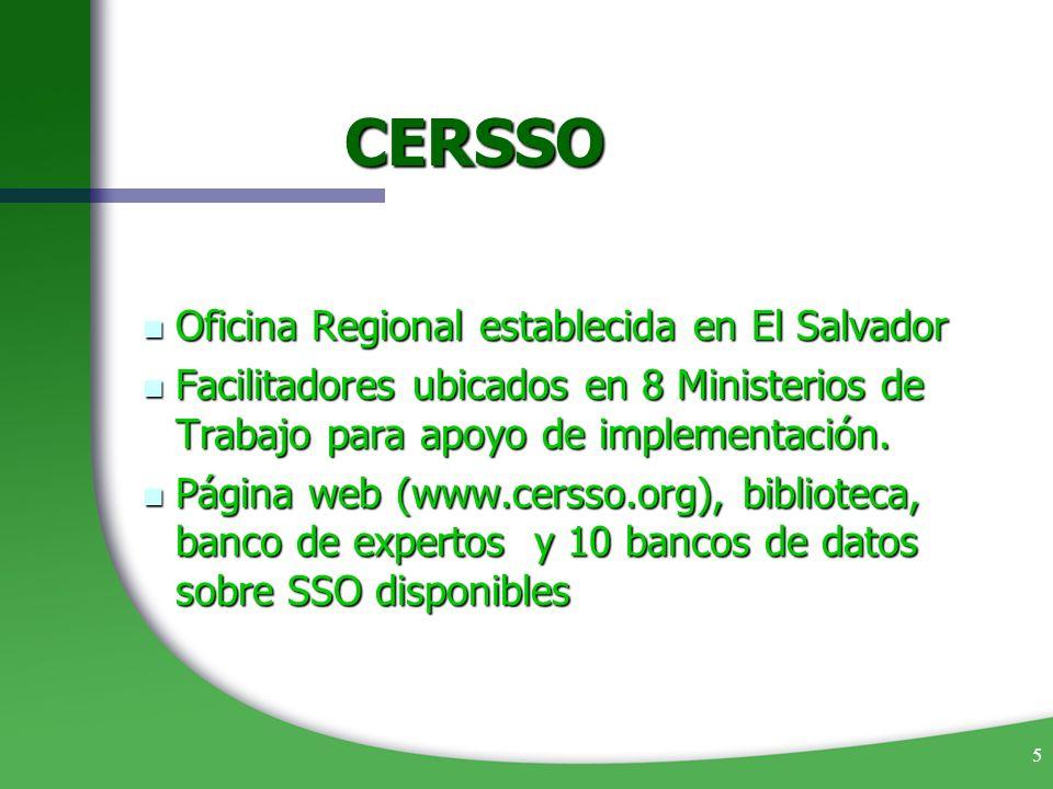 CERSSO Oficina Regional establecida en El Salvador