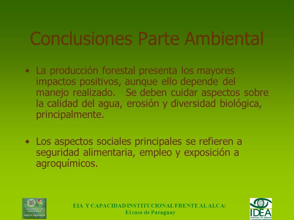 Conclusiones Parte Ambiental