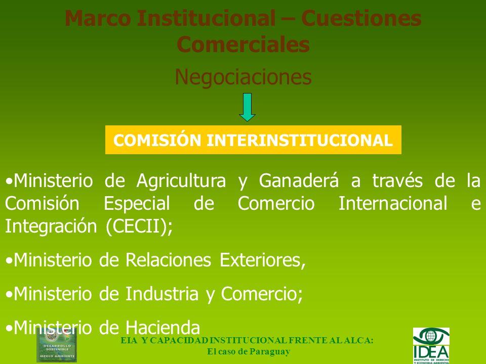 Marco Institucional – Cuestiones Comerciales