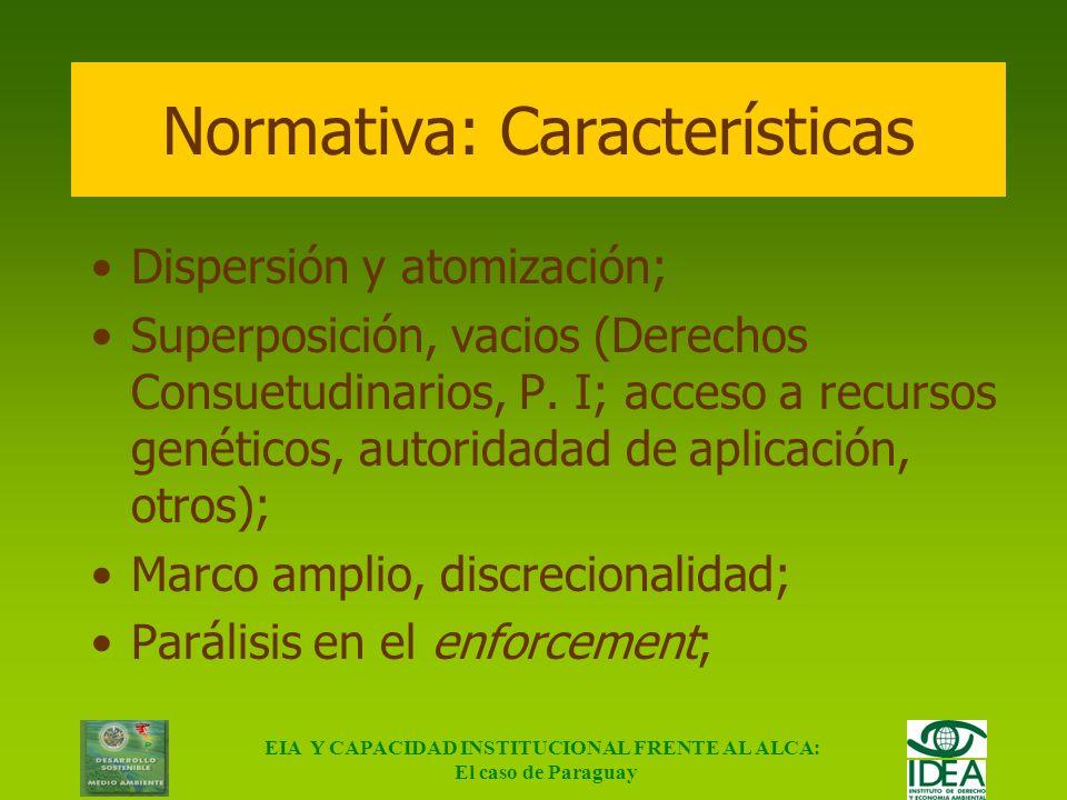 Normativa: Características