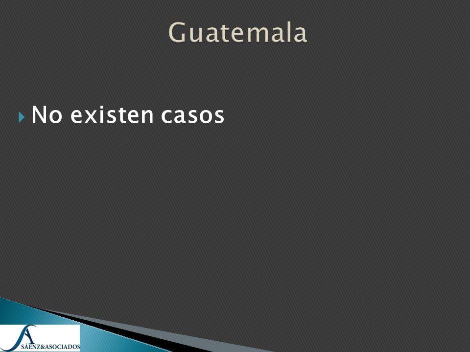 Guatemala No existen casos