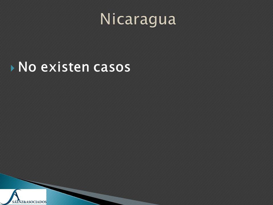 Nicaragua No existen casos