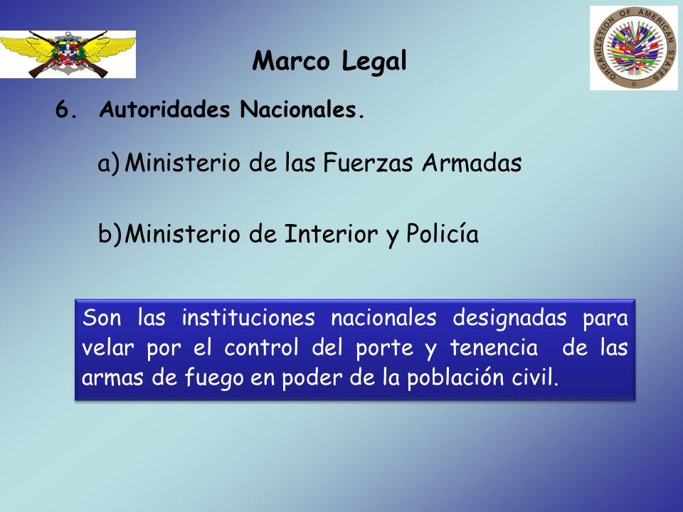Marco Legal Ministerio de las Fuerzas Armadas
