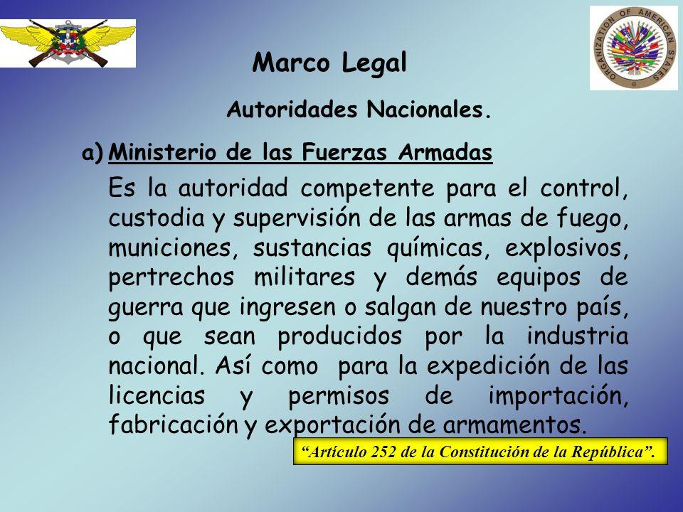 Autoridades Nacionales.