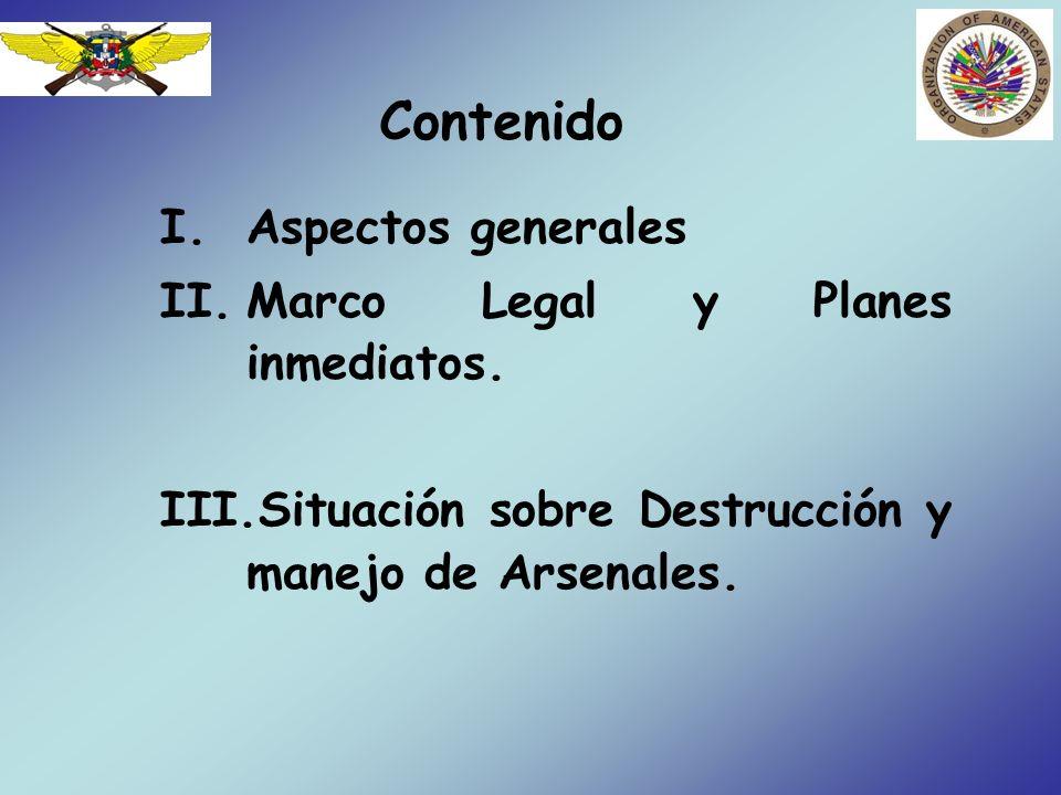 Contenido Aspectos generales Marco Legal y Planes inmediatos.