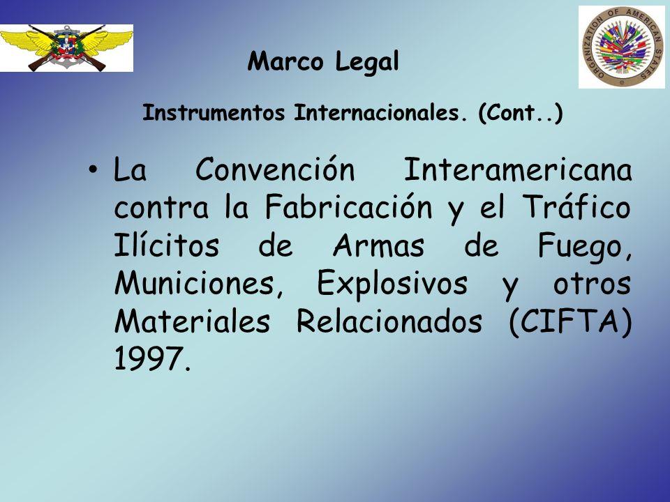Instrumentos Internacionales. (Cont..)