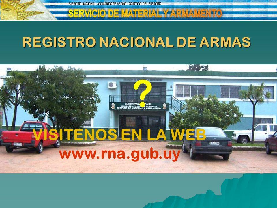 REGISTRO NACIONAL DE ARMAS