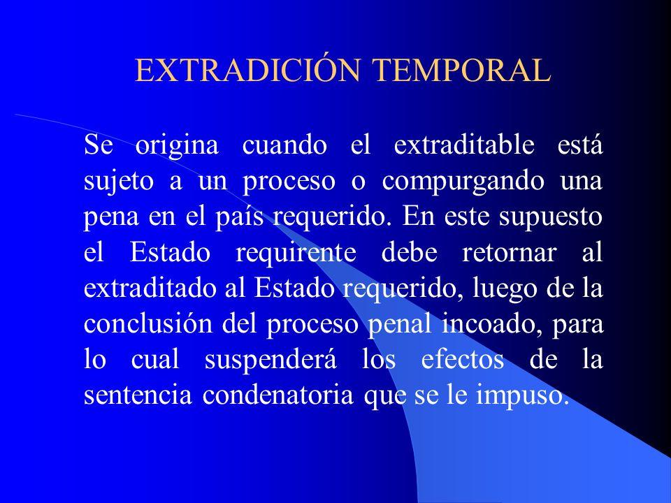 EXTRADICIÓN TEMPORAL