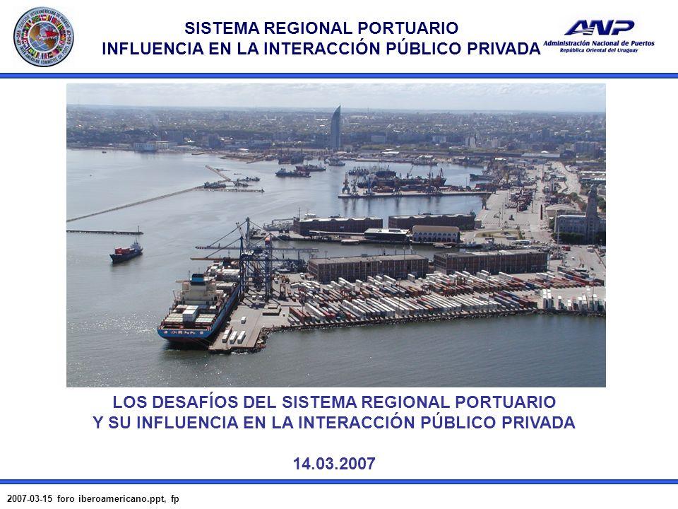 LOS DESAFÍOS DEL SISTEMA REGIONAL PORTUARIO