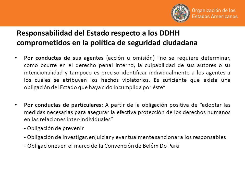 Responsabilidad del Estado respecto a los DDHH