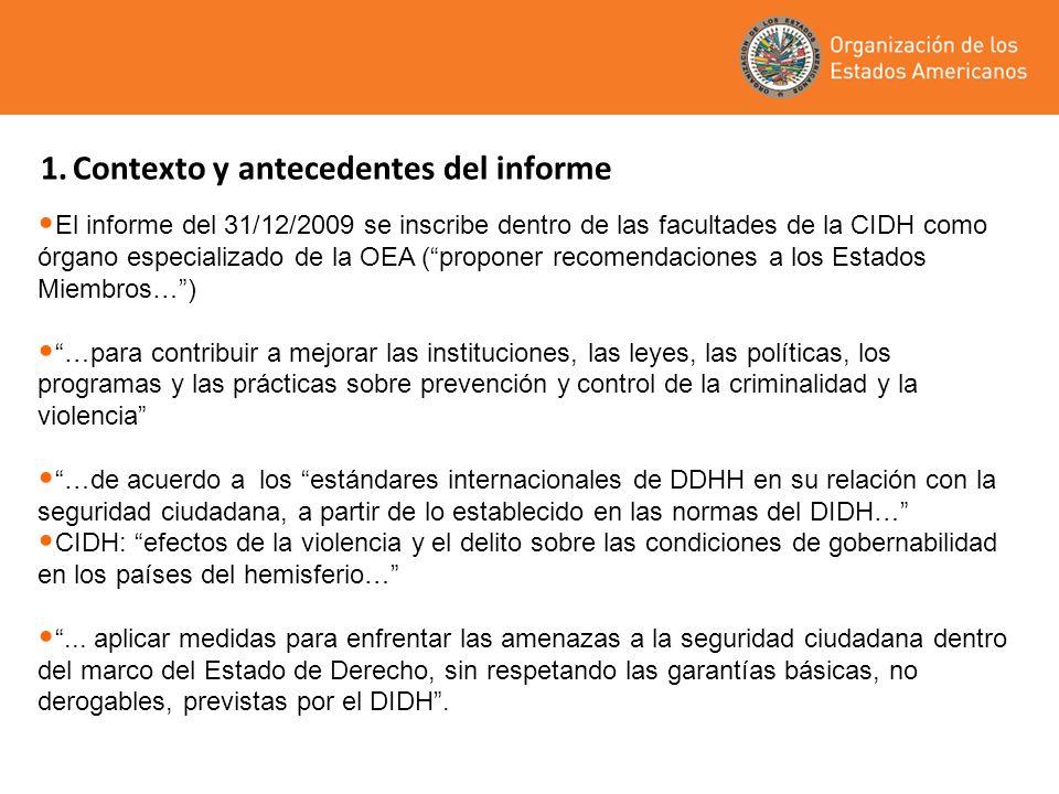 1. Contexto y antecedentes del informe