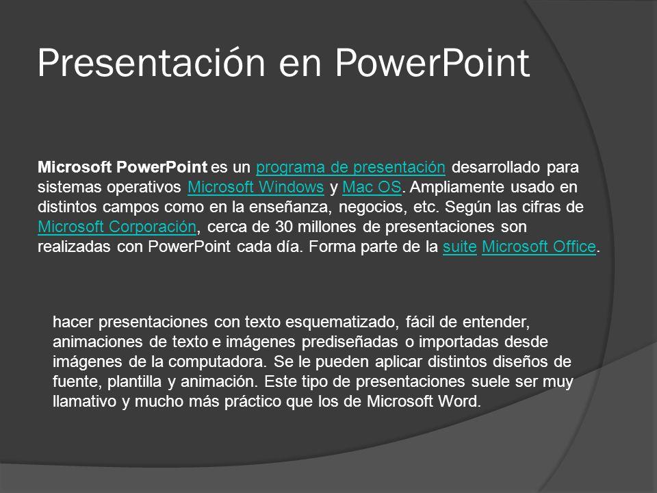 Presentación en PowerPoint