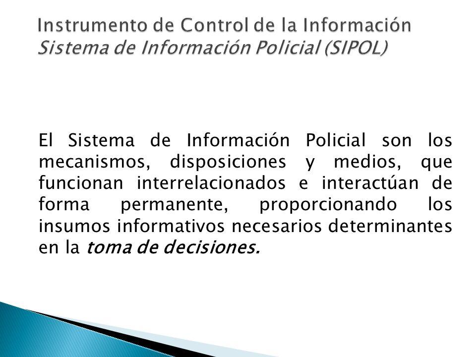 Instrumento de Control de la Información Sistema de Información Policial (SIPOL)