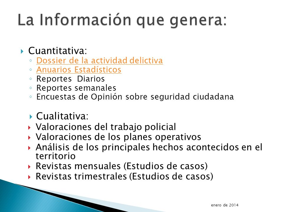 La Información que genera: