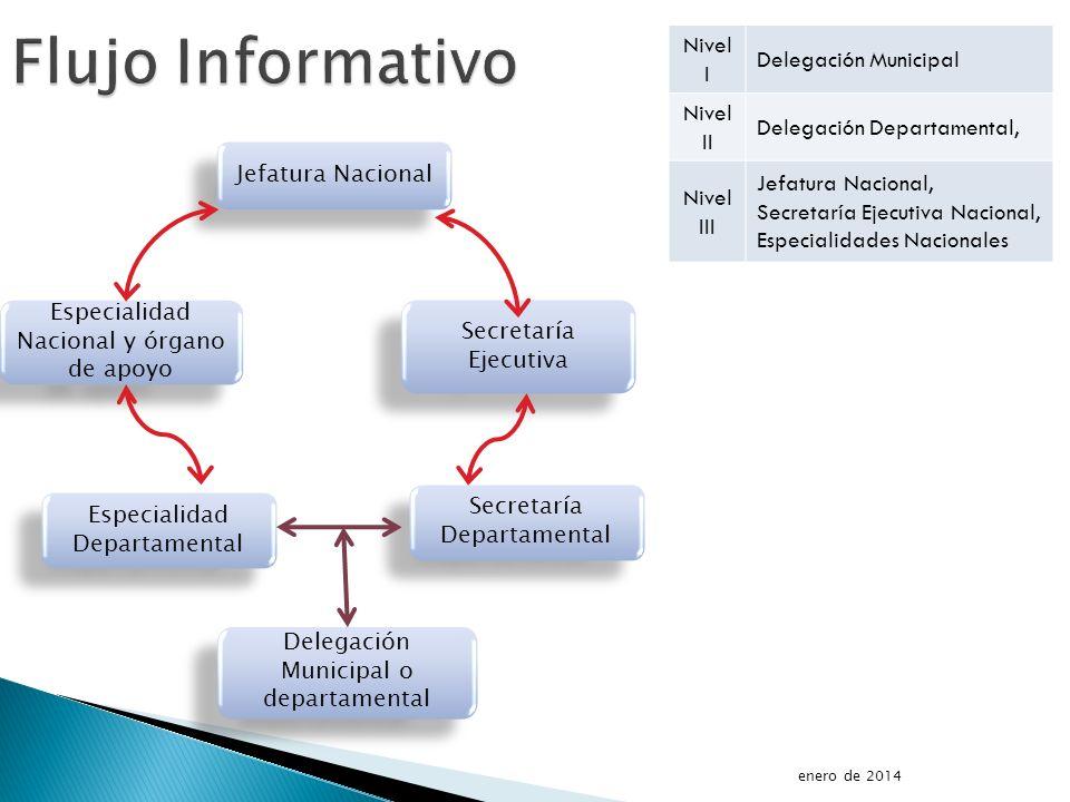 Flujo Informativo Nivel I Delegación Municipal Nivel II