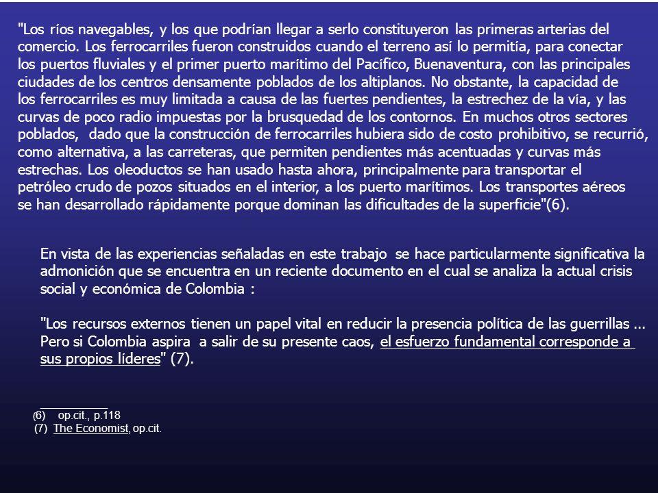 social y económica de Colombia :