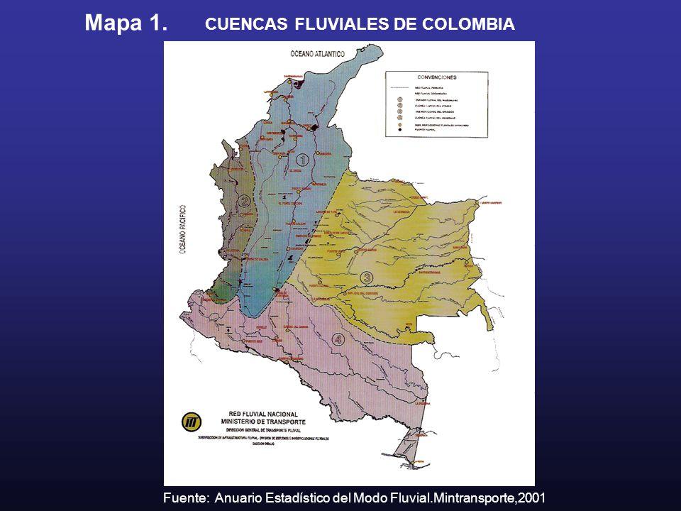 Mapa 1. CUENCAS FLUVIALES DE COLOMBIA