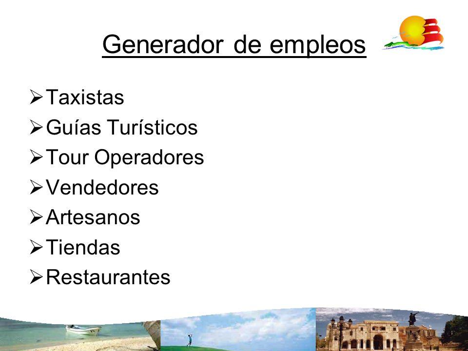 Generador de empleos Taxistas Guías Turísticos Tour Operadores
