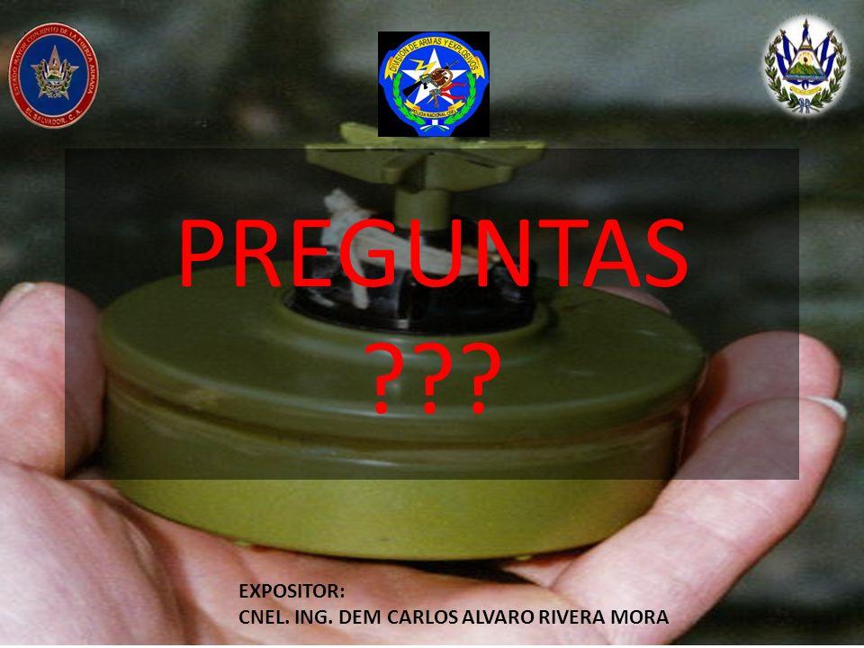 PREGUNTAS EXPOSITOR: CNEL. ING. DEM CARLOS ALVARO RIVERA MORA