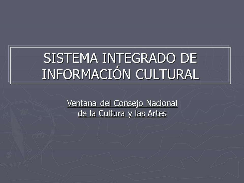 SISTEMA INTEGRADO DE INFORMACIÓN CULTURAL