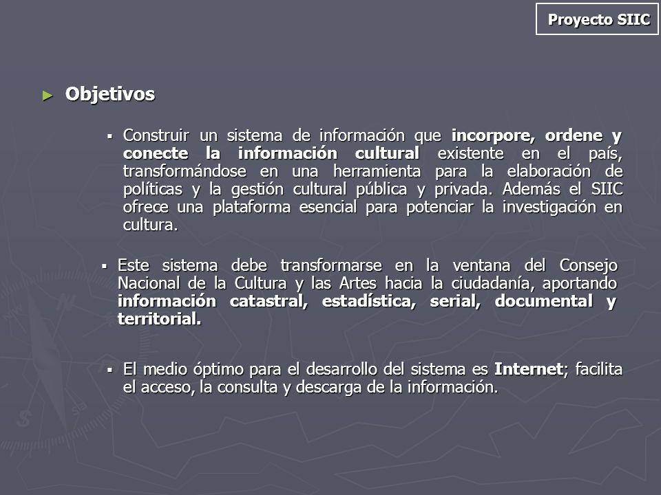 Proyecto SIIC Objetivos.