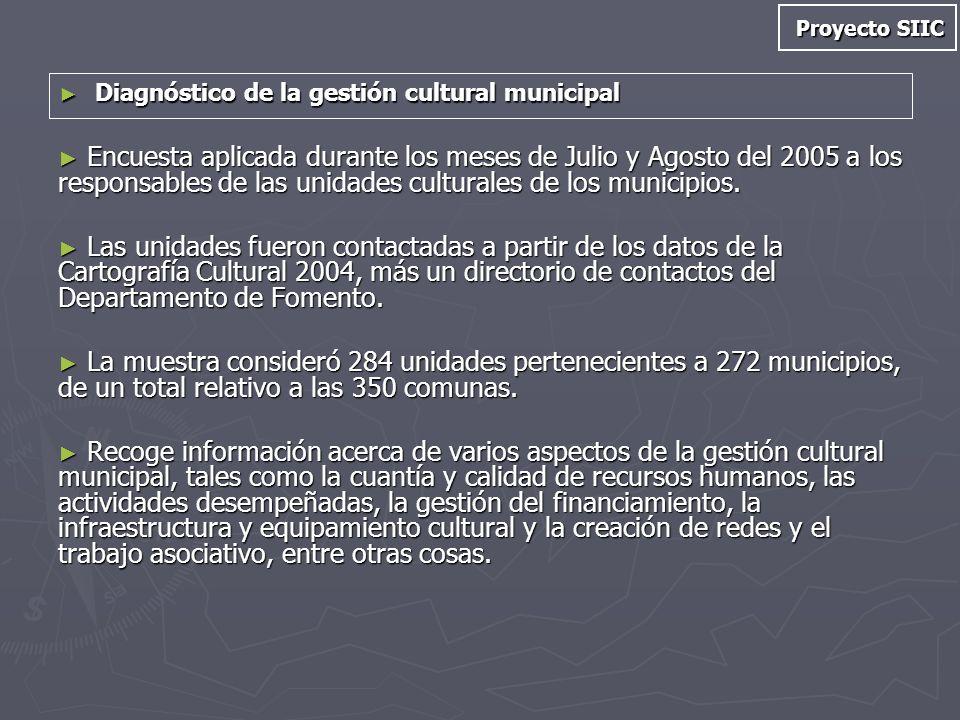 Proyecto SIIC Diagnóstico de la gestión cultural municipal.