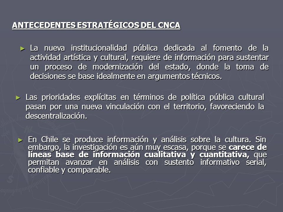 ANTECEDENTES ESTRATÉGICOS DEL CNCA