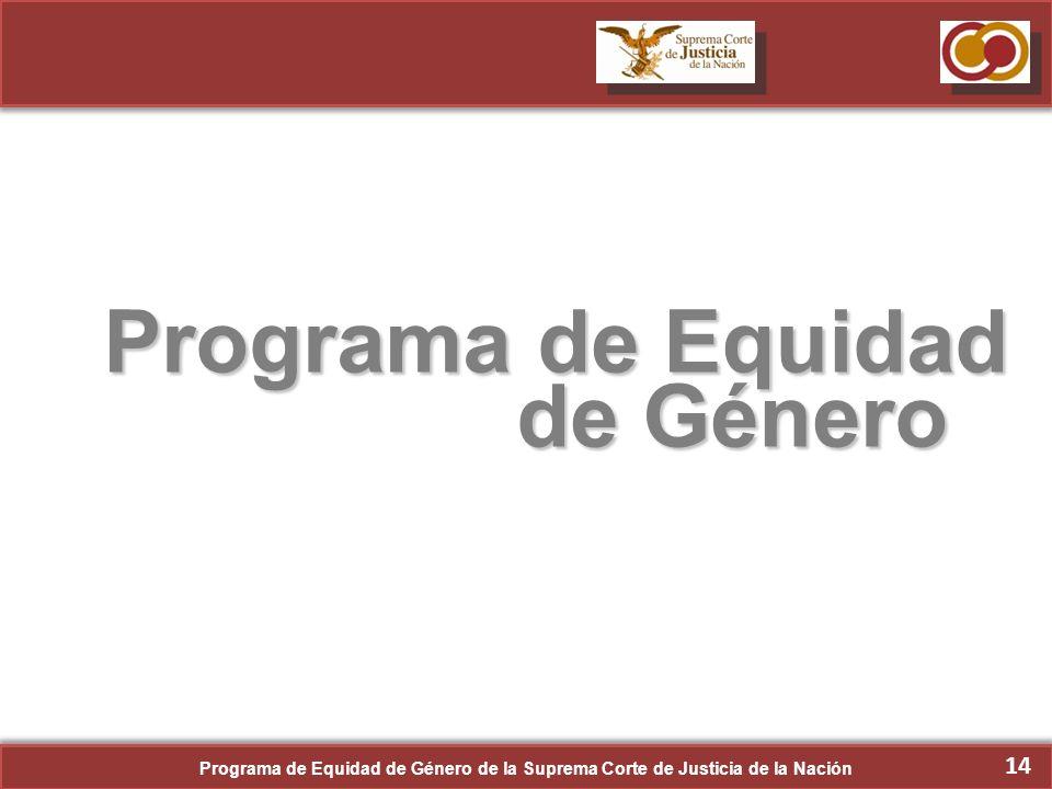 Programa de Equidad de Género