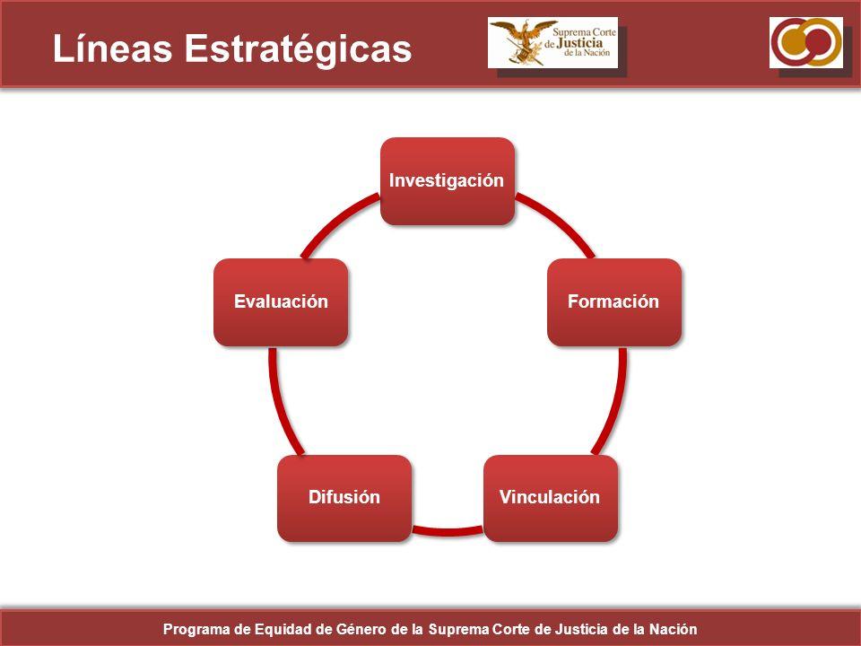 Líneas Estratégicas Investigación. Formación. Vinculación. Difusión. Evaluación.