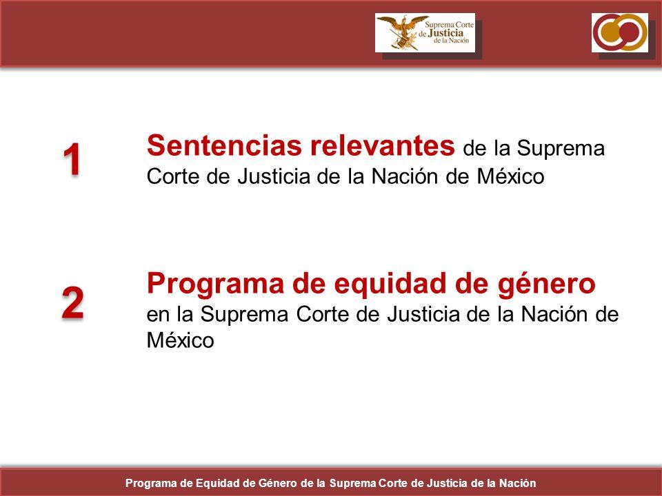Sentencias relevantes de la Suprema Corte de Justicia de la Nación de México