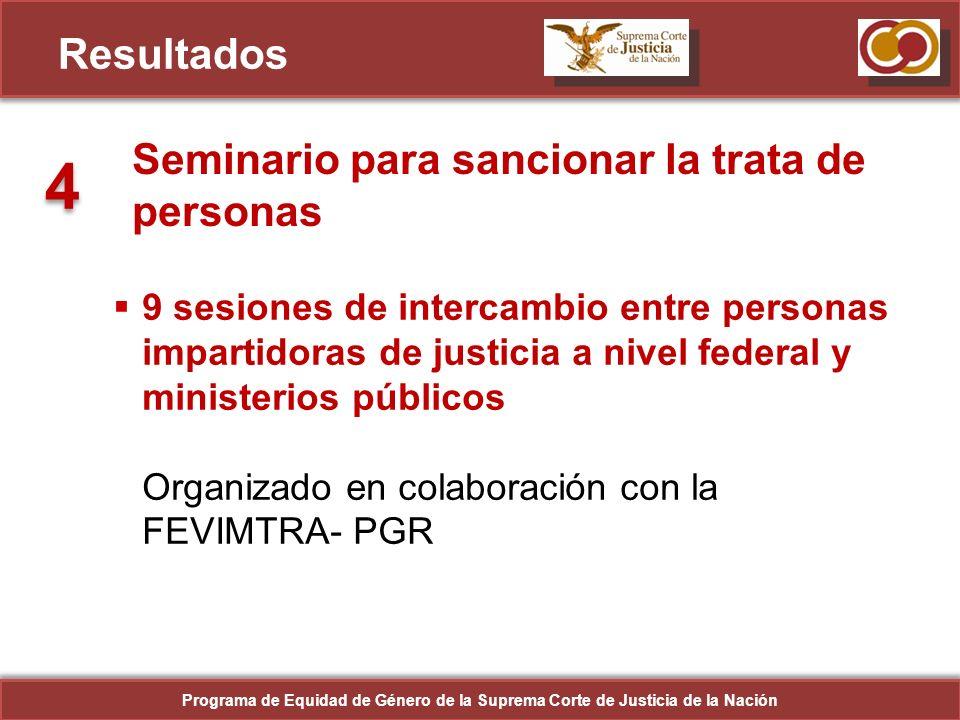 4 Resultados Seminario para sancionar la trata de personas