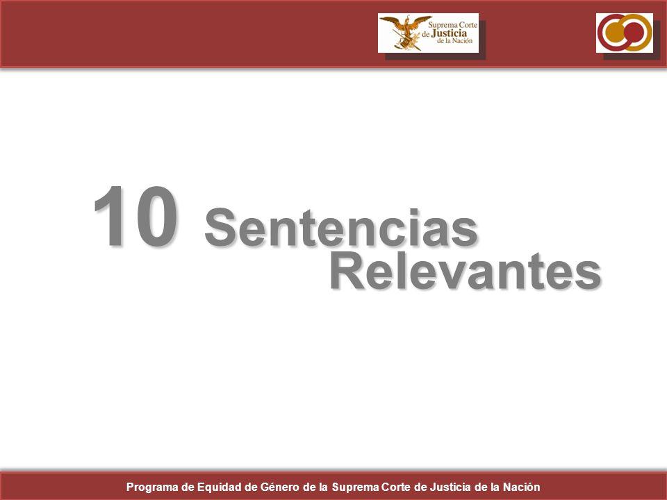 10 Sentencias Relevantes