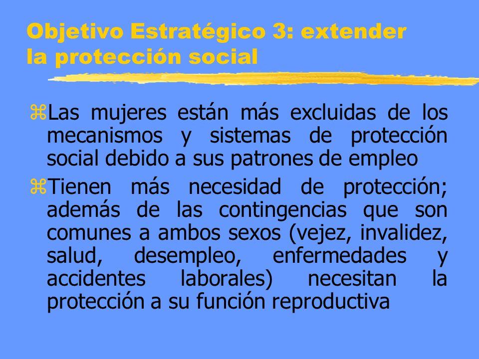 Objetivo Estratégico 3: extender la protección social