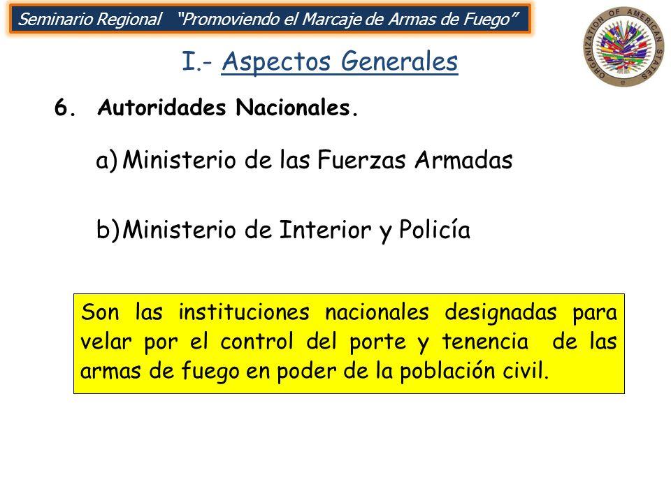 I.- Aspectos Generales Ministerio de las Fuerzas Armadas