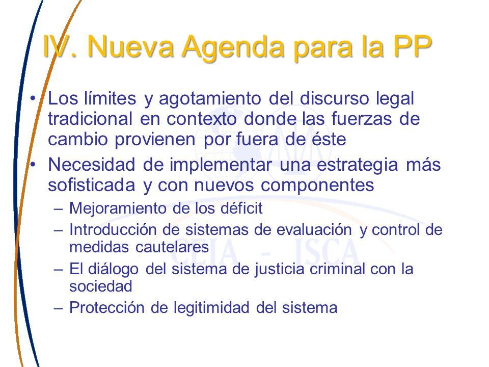 IV. Nueva Agenda para la PP