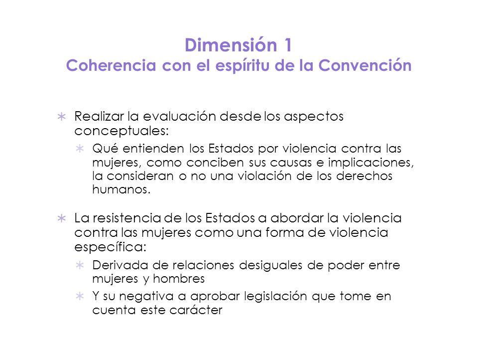 Dimensión 1 Coherencia con el espíritu de la Convención