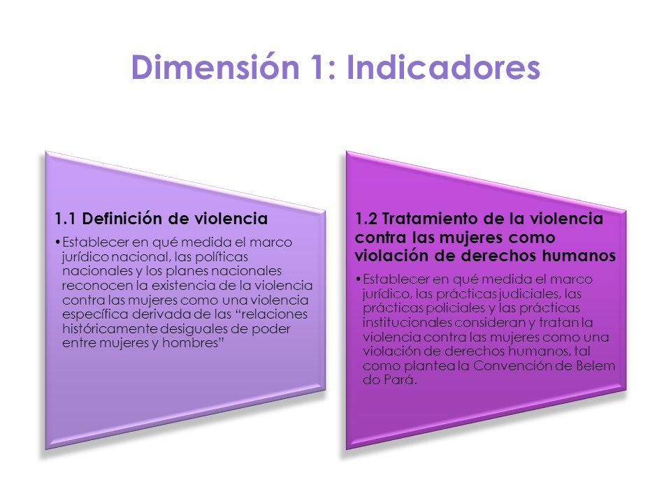 Dimensión 1: Indicadores