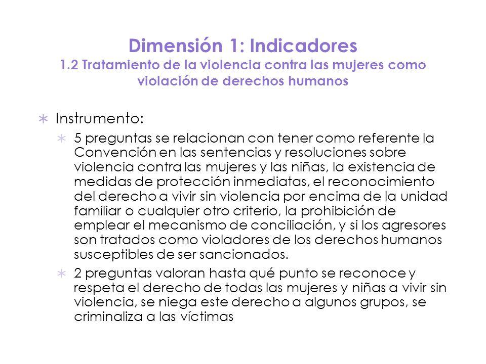 Dimensión 1: Indicadores 1