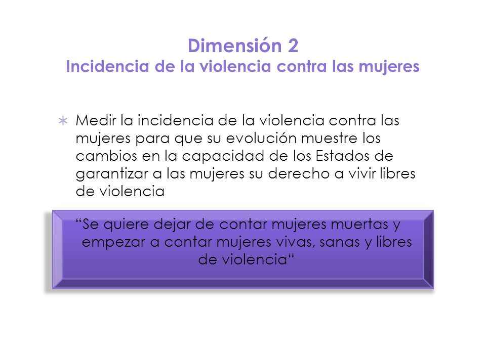 Dimensión 2 Incidencia de la violencia contra las mujeres