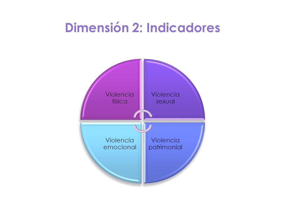 Dimensión 2: Indicadores