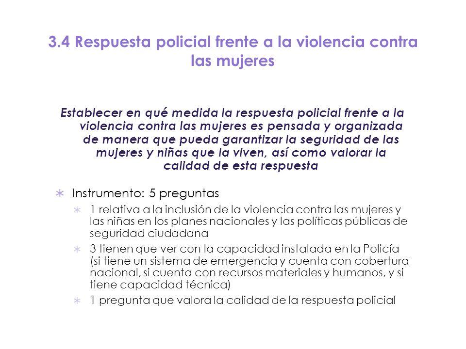 3.4 Respuesta policial frente a la violencia contra las mujeres