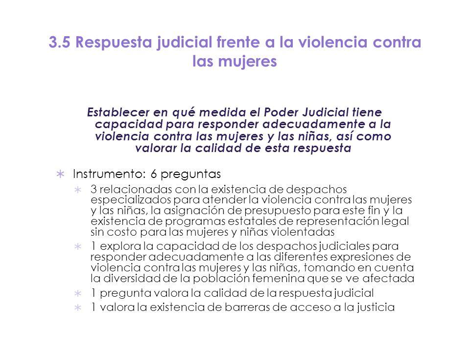 3.5 Respuesta judicial frente a la violencia contra las mujeres