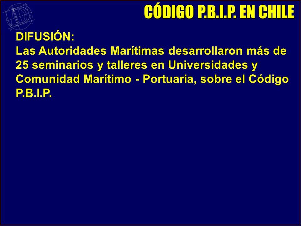 CÓDIGO P.B.I.P. EN CHILE DIFUSIÓN: