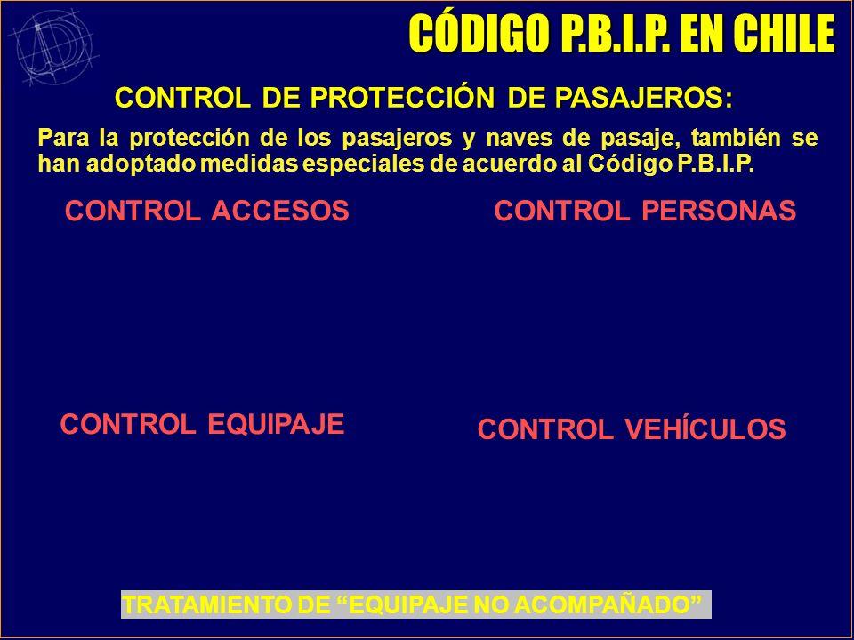 CONTROL DE PROTECCIÓN DE PASAJEROS: