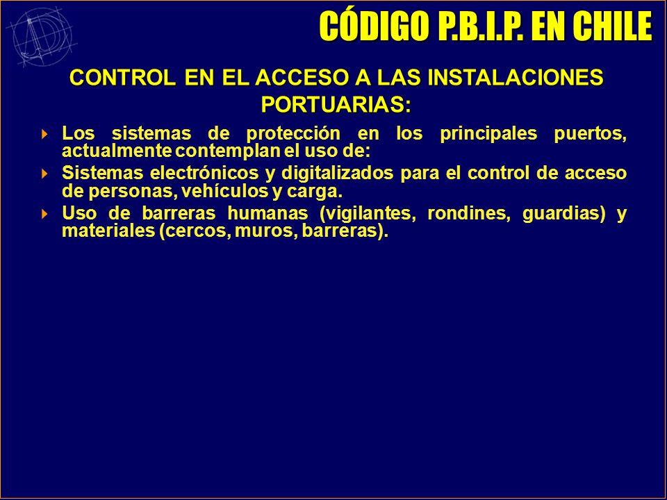CONTROL EN EL ACCESO A LAS INSTALACIONES PORTUARIAS: